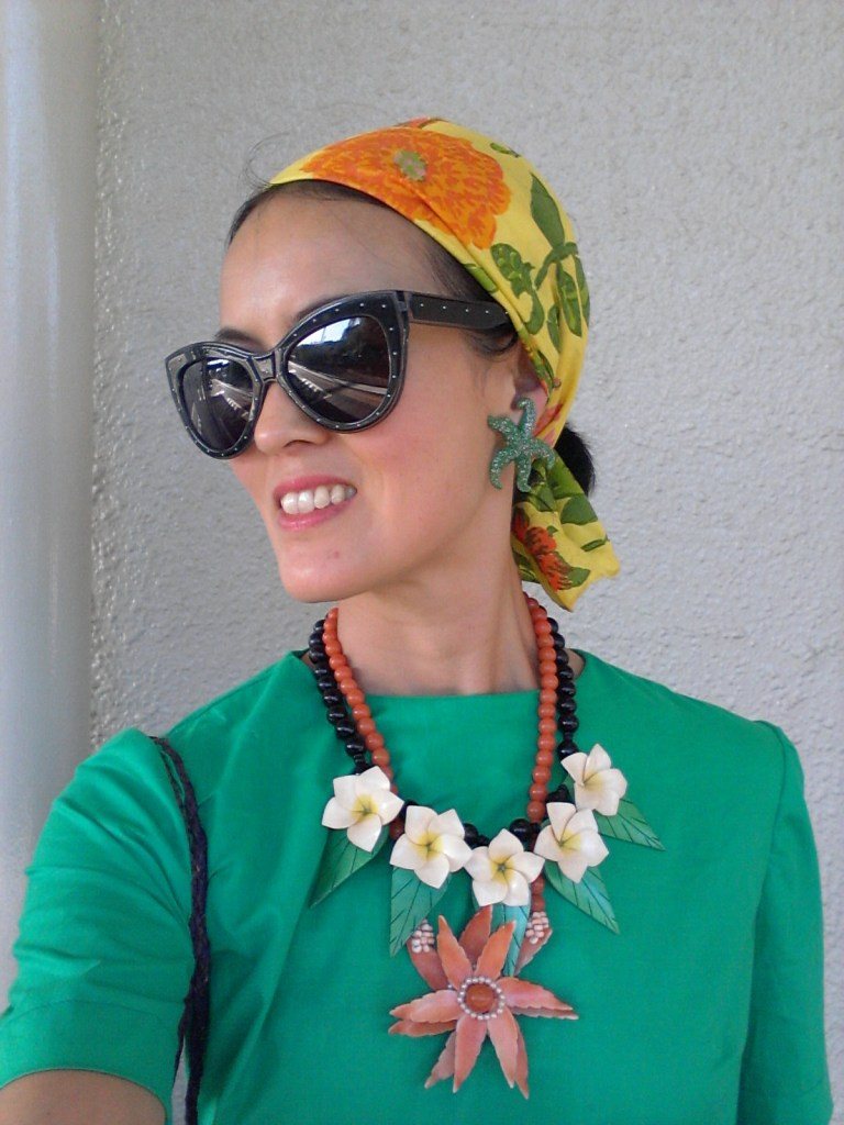 tropical necklace scarf
