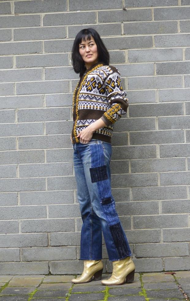 sashiko denim jeans DIY