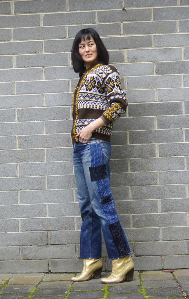 sashiko denim jeans DIY