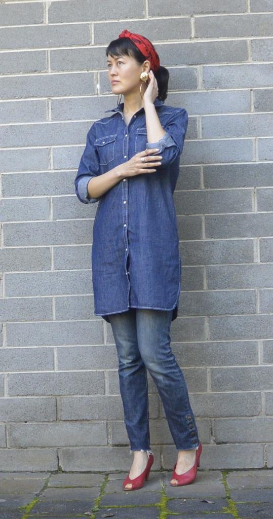 denim jeans bandanna