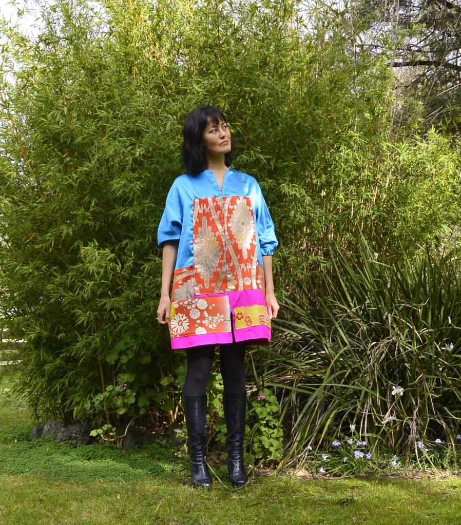 thrift diy kimono patchwork