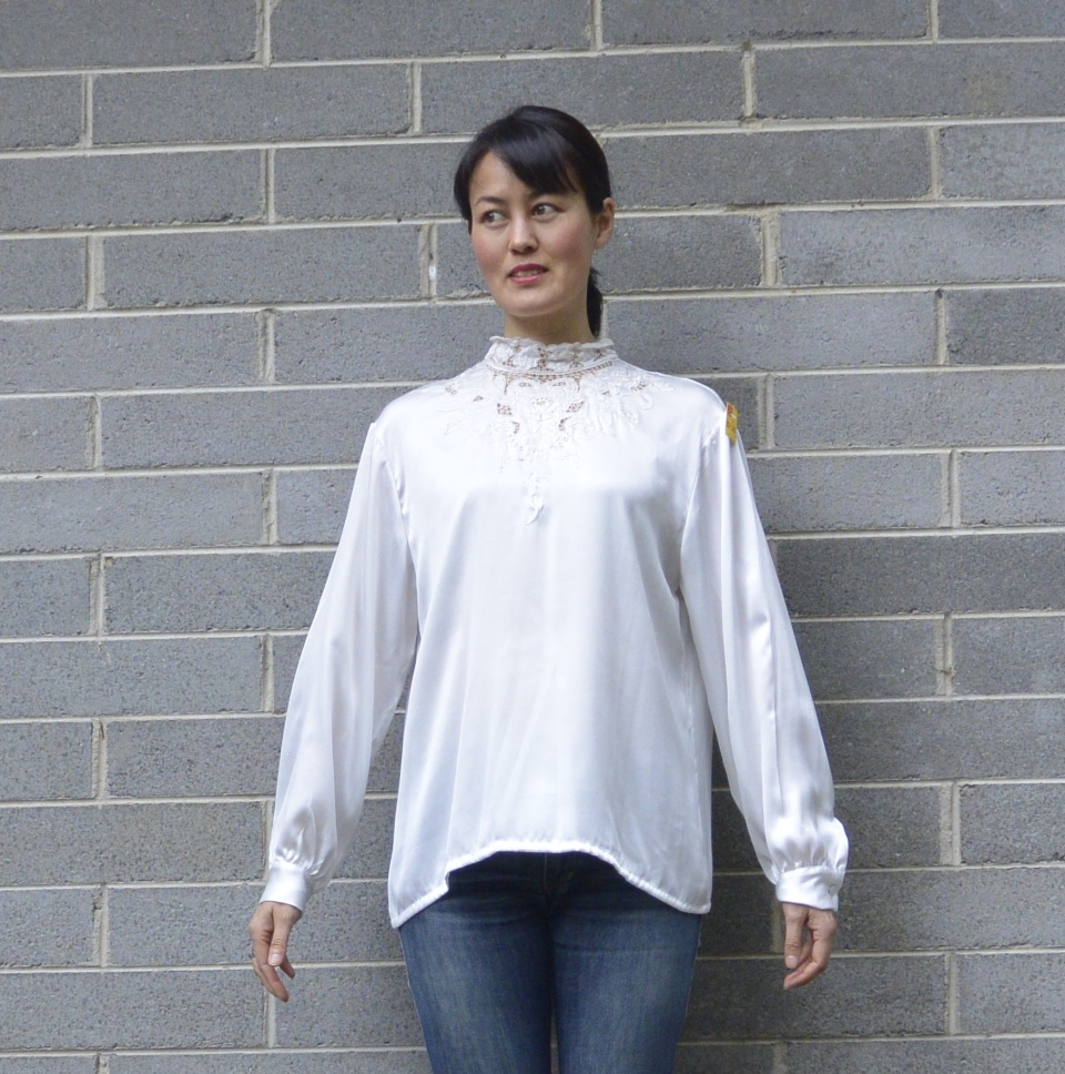 silk blouse embroidery