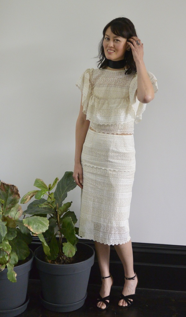 lace DIY cheap skirt & blouse
