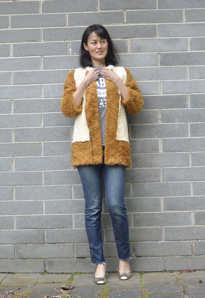 shearling jacket DIY