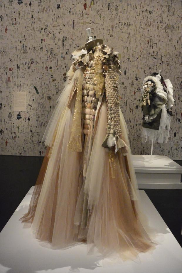 viktor & rolf long recycled tulle dress