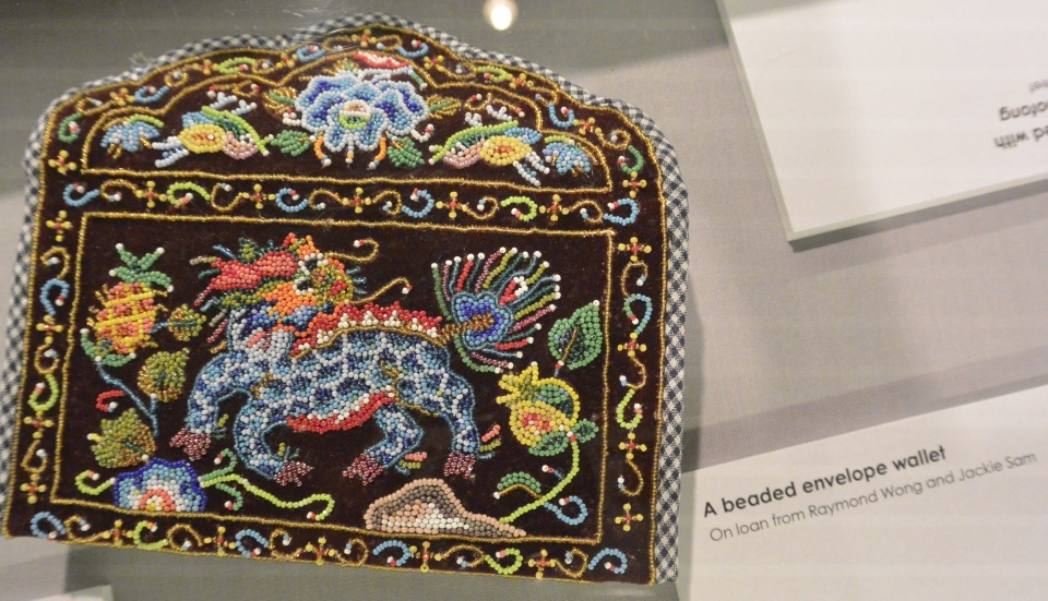 dragon beaded wallet Peranakan