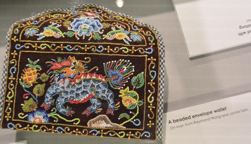dragon beaded wallet Peranakan