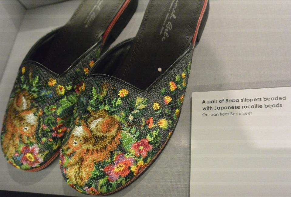 squirrel bead slippers Peranakan