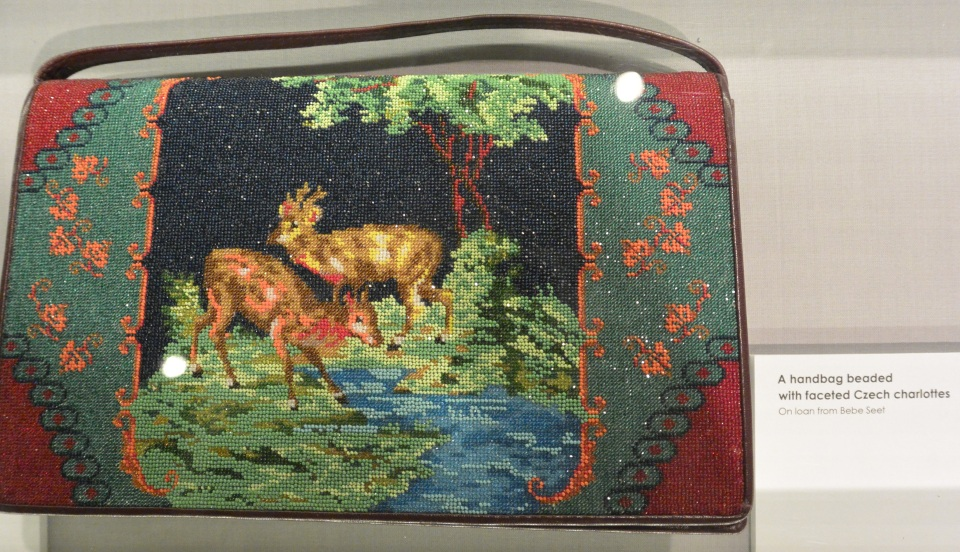 deer beaded handbag