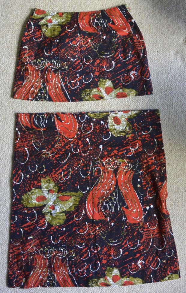 batik skirt before