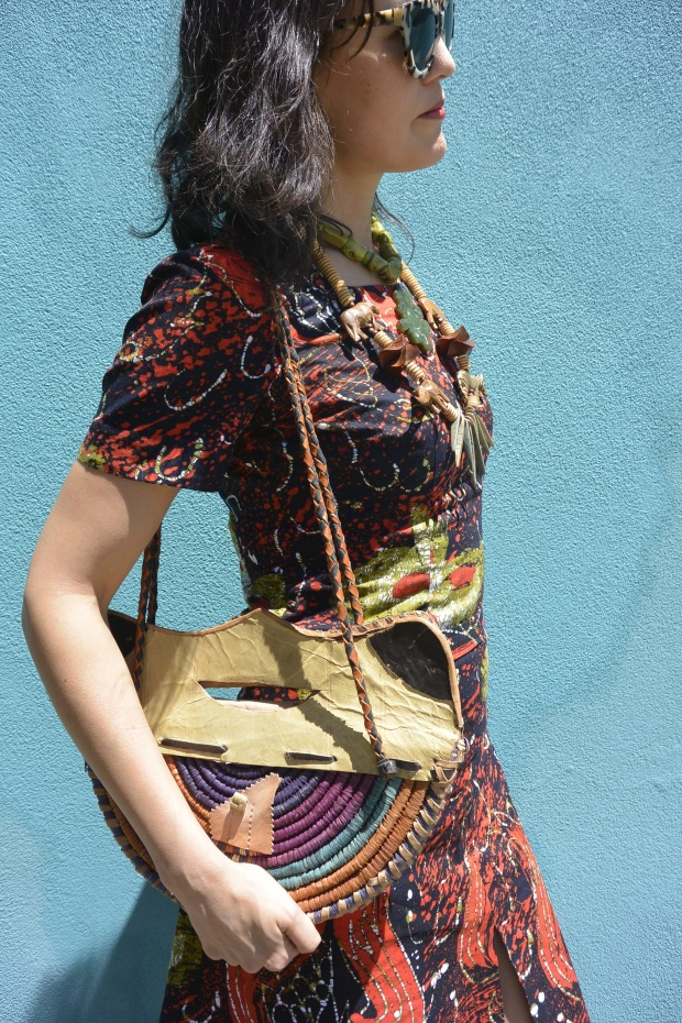 African necklace bag sunglasses