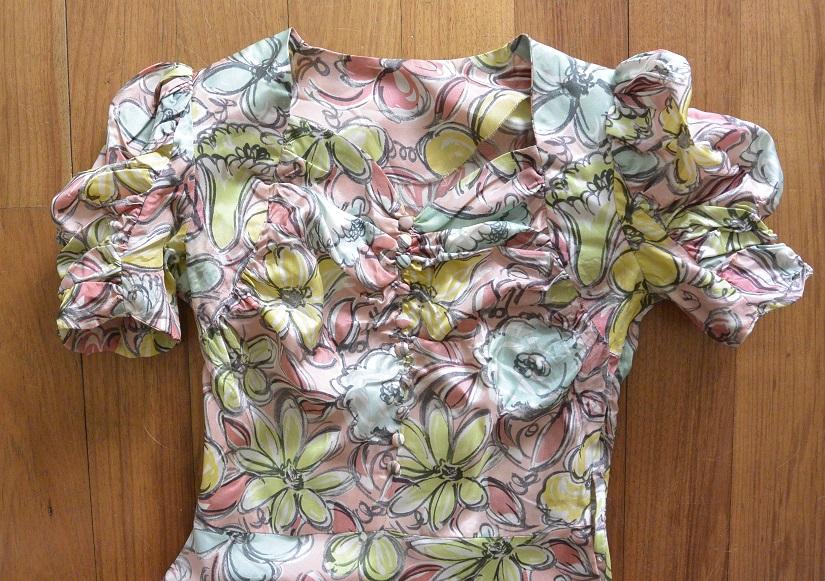 floral dress bodice