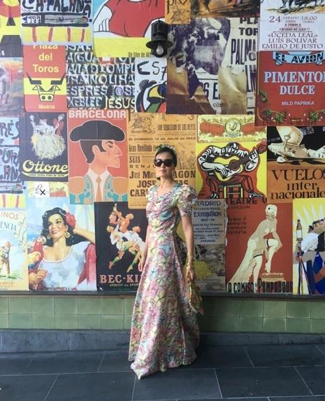 floral dress retro