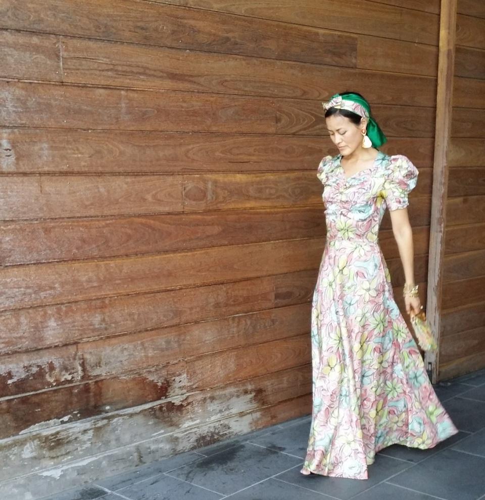 floral vintage dress 1930s