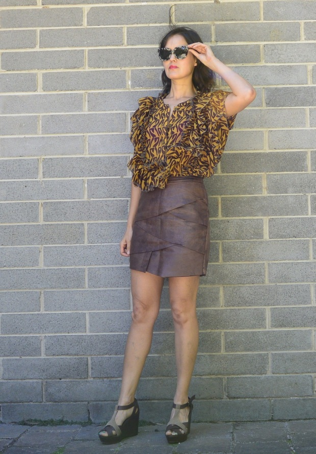 leather skirt remake DIY