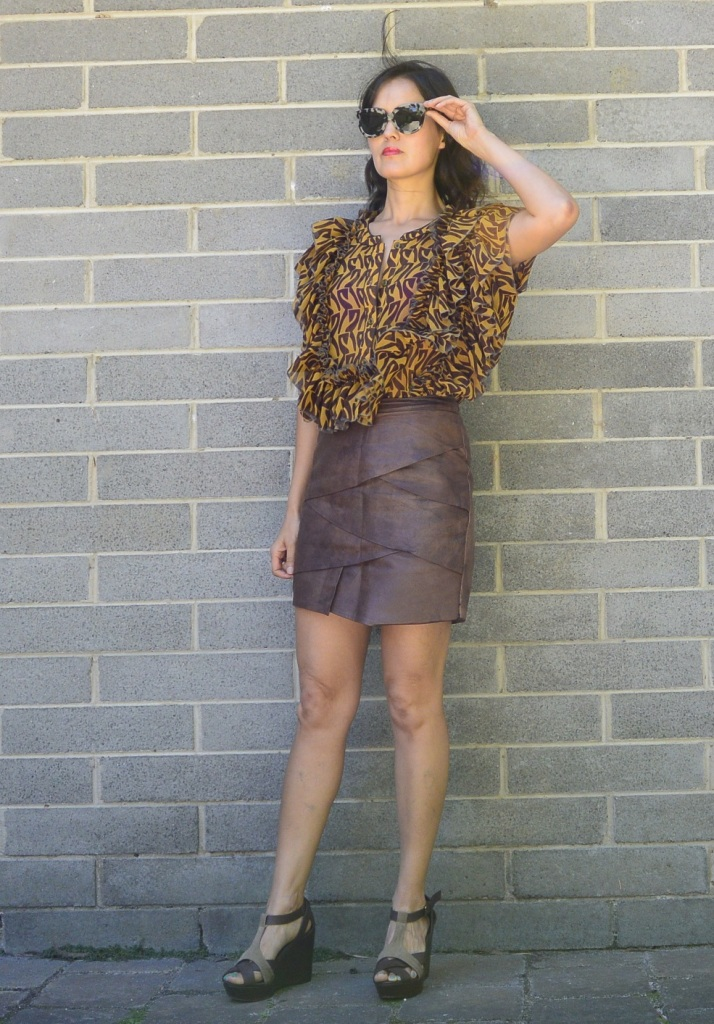 leather skirt remake DIY