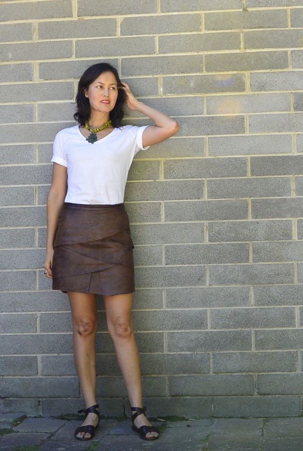 leather mini skirt remake