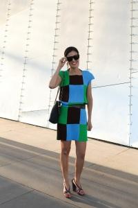 Issey Miyake pleats dress styling