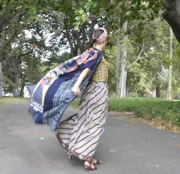 Chinese opera coat batik textiles