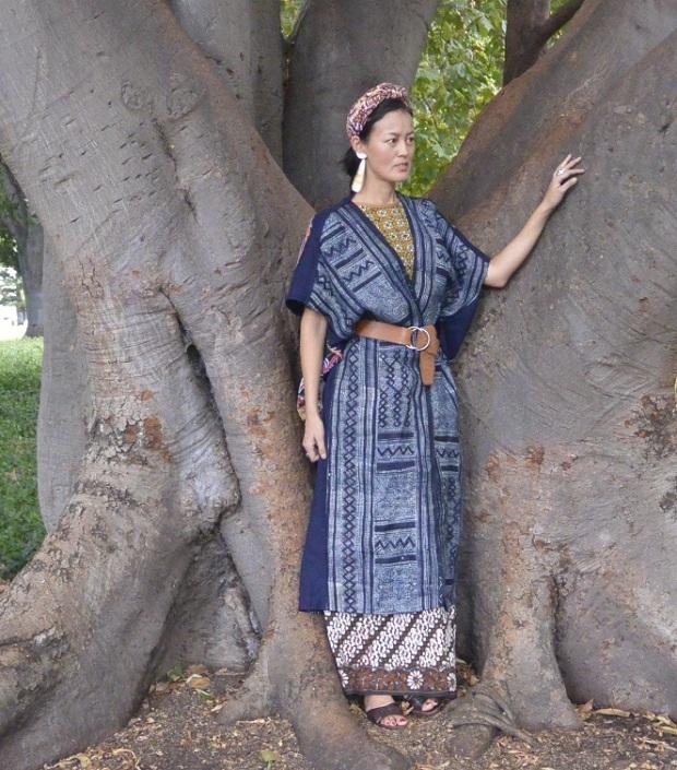 Hmong batik indigo coat