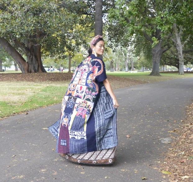 Hmong batik Chinese opera print DIY