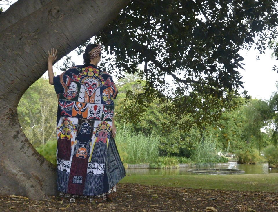 Chinese opera coat batik