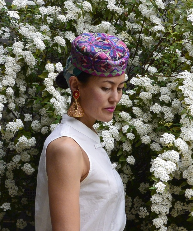 cap embroidery scarf
