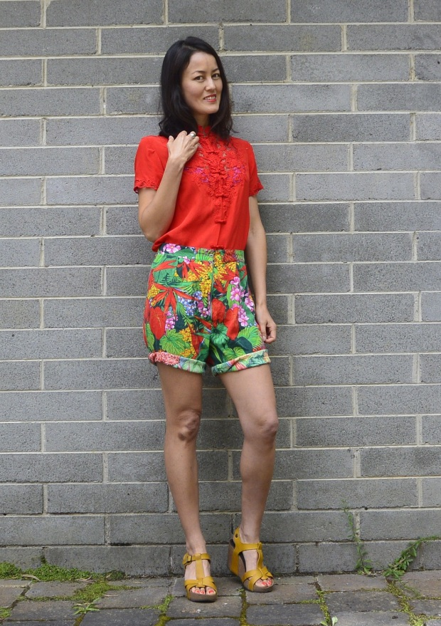 tropical vintage shorts
