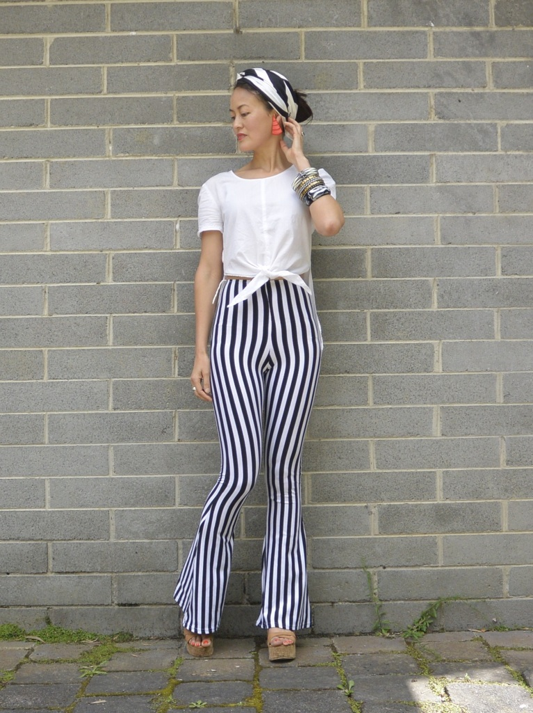 stripy pants