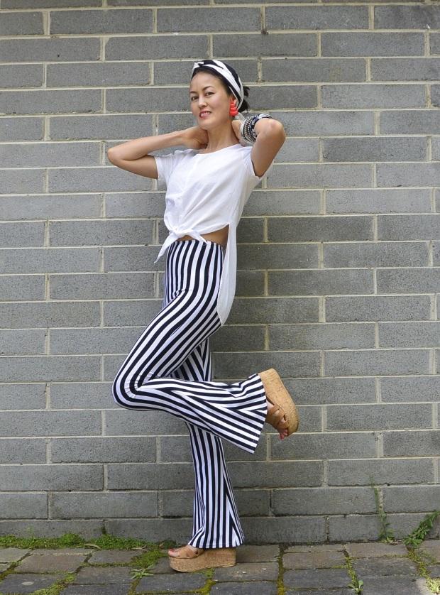 stripy vintage pants
