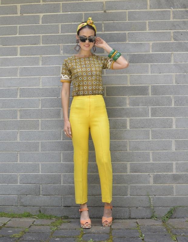 vintage yellow pants