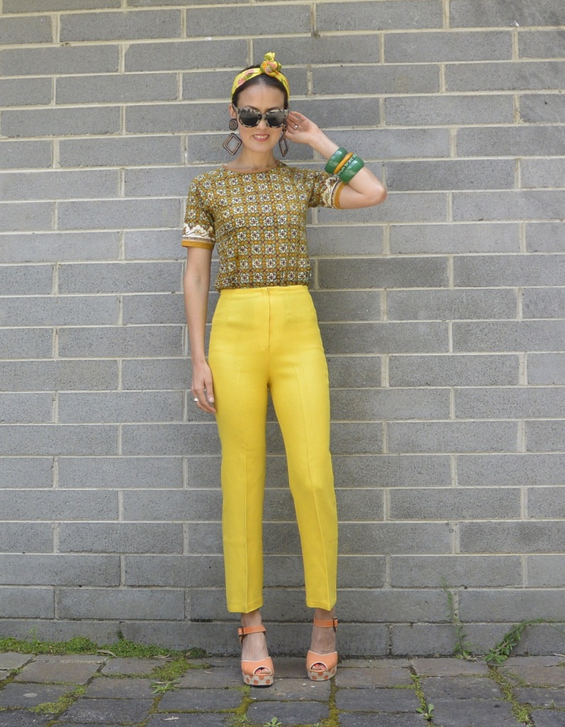 vintage yellow pants