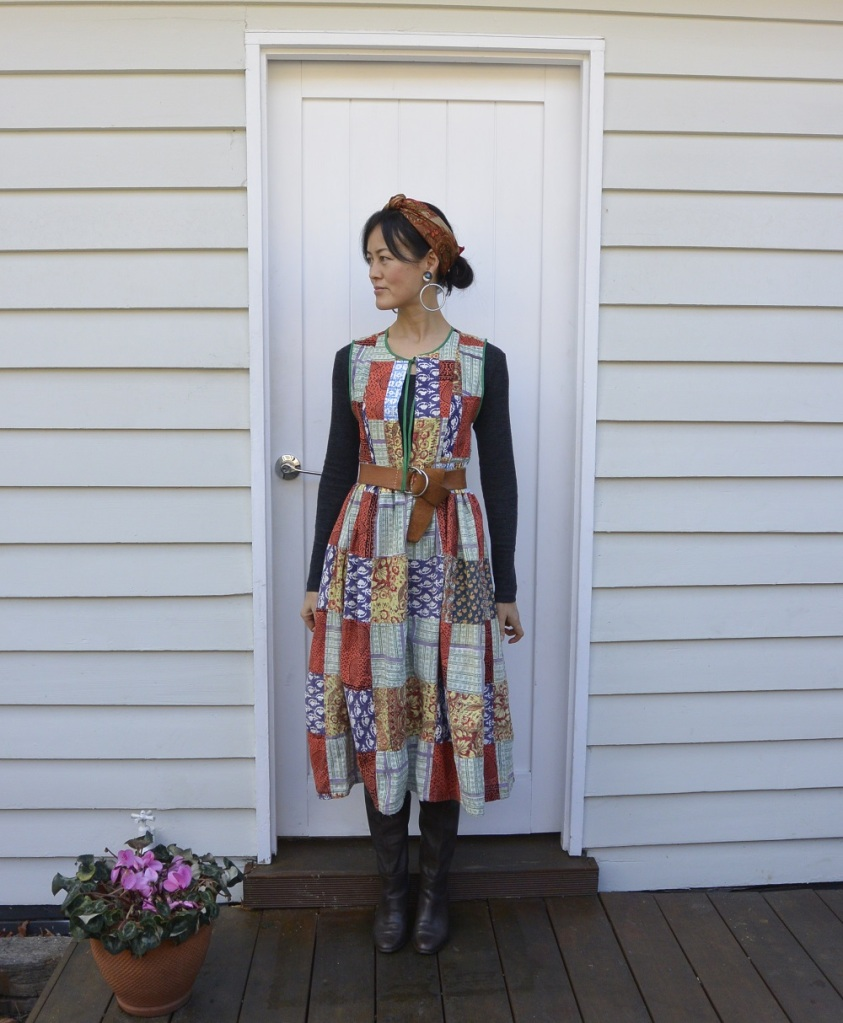 patchwork outfit