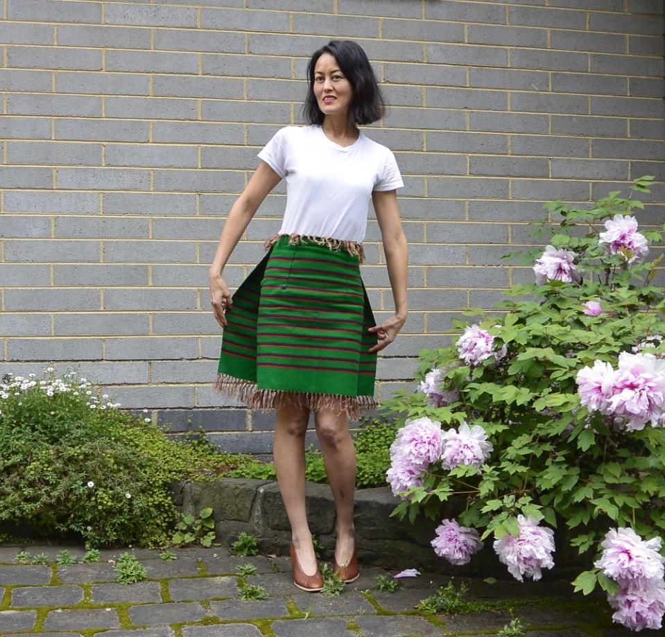 striped skirt fringe
