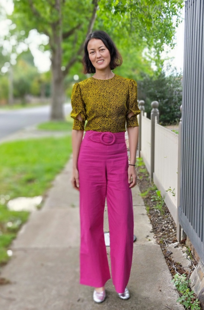 yellow dot blouse